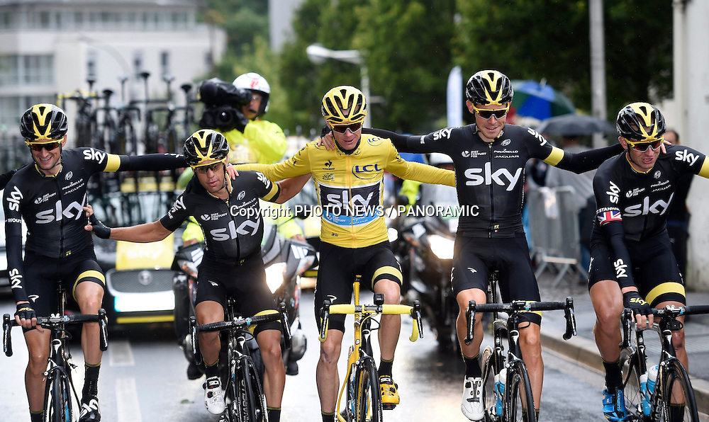 Chris Froome during the stage 21 of the 102nd edition of the Tour de France 2015 with start in Sevres - Grznd Paris Seine Ouest and finish in Paris - Champs-Elysees, France (109,5 kms)