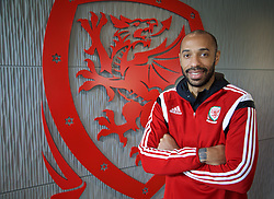 NEWPORT, WALES - Sunday, May 31, 2015: Thierry Henry during the Football Association of Wales' National Coaches Conference 2015 at Dragon Park FAW National Development Centre. (Pic by David Rawcliffe/Propaganda)