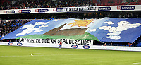 Fotball<br /> Tippeligaen Eliteserien<br /> 15.09.08<br /> Ullevaal Stadion<br /> Vålerenga VIF - Lyn<br /> TIFO Banner Klanen<br /> Foto - Kasper Wikestad