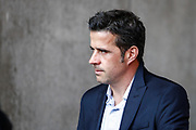 Watford head coach Marco Silva arrives at the stadium, before the Premier League match between Swansea City and Watford at the Liberty Stadium, Swansea, Wales on 23 September 2017. Photo by Andrew Lewis.