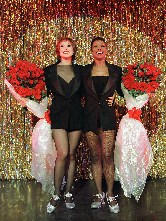 Chicago .Cell Block Tour.Bianca Marroquin as Roxie Hart, left.Brenda Braxton as Velma Kelly.Credit Photo: © Paul Kolnik