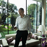 Jakob Hørder, MD at Morgan Stanley. Photographed in his home in London.