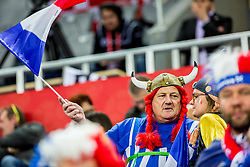 France fan during handball match between National teams of France and Spain in Half Final match of Men's EHF EURO 2018, on January 26, 2018 in Arena Zagreb, Zagreb, Croatia. Photo by Ziga Zupan / Sportida
