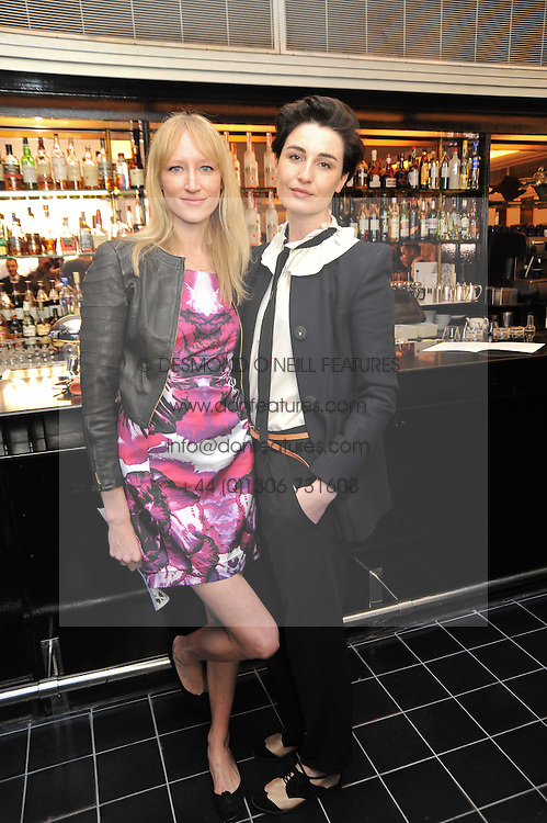 Left to right, JADE PARFITT and ERIN O'CONNOR at a brunch hosted by Zac Posen to launch the Belvedere Bloody Mary Brunch held at Le Caprice, 25 Arlington Street, London on 7th April 2011.