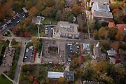 Aerial view of Scott Quadrangle and Gordy Hall. © Ohio University