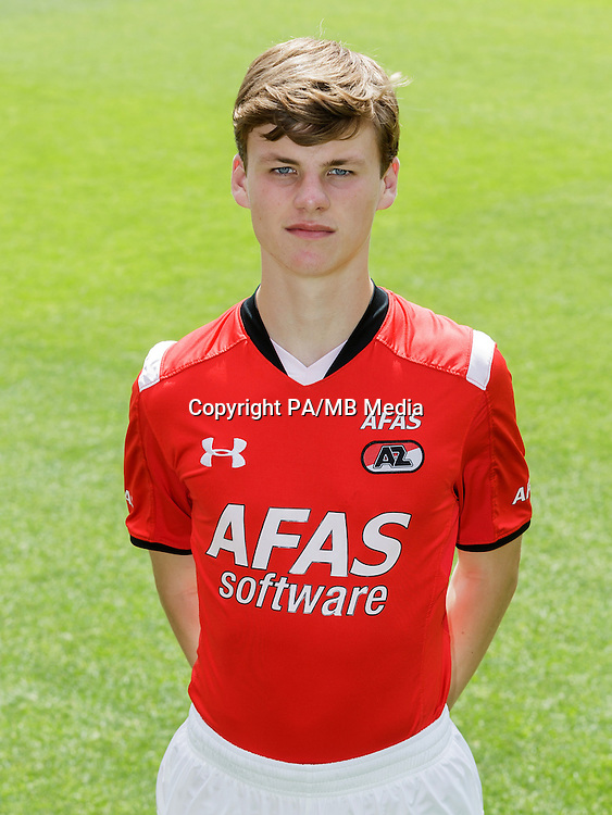 Jeremy Helmer during the team photocall of AZ Alkmaar on July 17, 2015 at Afas Stadium in Alkmaar, The Netherlands
