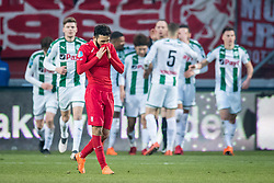 Cristian Cuevas of FC Twente 0-1 during the Dutch Eredivisie match between FC Twente Enschede and FC Groningen at the Grolsch Veste on March 04, 2018 in Enschede, The Netherlands