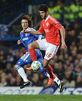 Football - Champions League Quarter Final Second Leg - Chelsea vs. Benfica<br /> David Luiz (Chelsea) Nelson Oliveira (Benfica)