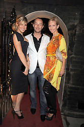 Left to right, HOFIT GOLAN,  SCOTT HENSHALL and ANNEKA SVENSKA at a party to celebrate the opening of the new home of Alfred Dunhill at Bourdon House, 2 Davies Street, London on 16th September 2008.