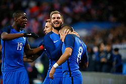 29.03.2016, Stade de France, St. Denis, FRA, Testspiel, Frankreich vs Russland, im Bild pogba paul, gignac andre pierre, payet dimitri // during the International Friendly Football Match between France and Russia at the Stade de France in St. Denis, France on 2016/03/29. EXPA Pictures © 2016, PhotoCredit: EXPA/ Pressesports/ Sebastian Boue<br /> <br /> *****ATTENTION - for AUT, SLO, CRO, SRB, BIH, MAZ, POL only*****