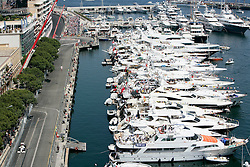 MONTE-CARLO, MONACO - Sunday, May 24, 2009: Jenson Button (GBR Brawn GP) drives past the expensive yachts moored in the harbour during the Monaco Formula One Grand Prix at the Monte-Carlo Circuit. (Pic by Juergen Tap/Hoch Zwei/Propaganda)