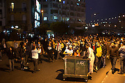Egyptian protesters march during continuing January 26, 2011 demonstrations in downtown Cairo, Egypt. A series of unprecedented demonstrations have broken out across Egypt for the past two days, inspired by the revolution in Tunisia, and intended to spark a similar movement in Egypt. .Slug: Egypt.Credit: Scott Nelson for the New York Times