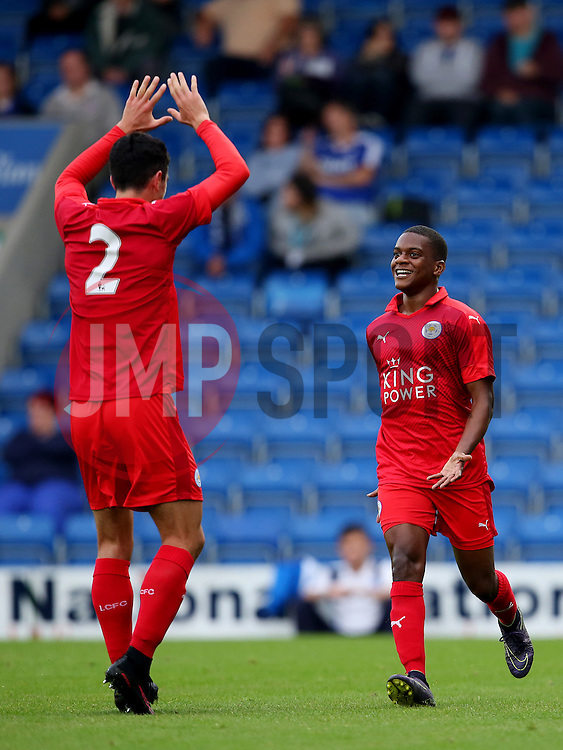 Liandre Martis of Leicester City celebrates after scoring his sides first goal   - Mandatory by-line: Matt McNulty/JMP - 02/08/2016 - FOOTBALL - Pro Act Stadium - Chesterfield, England - Chesterfield v Leicester City - Pre-season friendly