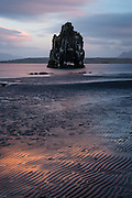 The stack at Hvitserkur on the Vatnsnes Peninsular in northern Iceland