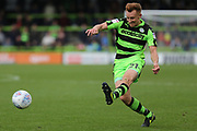 Forest Green Rovers Mark Roberts(21) shoots at goal during the EFL Sky Bet League 2 match between Forest Green Rovers and Accrington Stanley at the New Lawn, Forest Green, United Kingdom on 30 September 2017. Photo by Shane Healey.