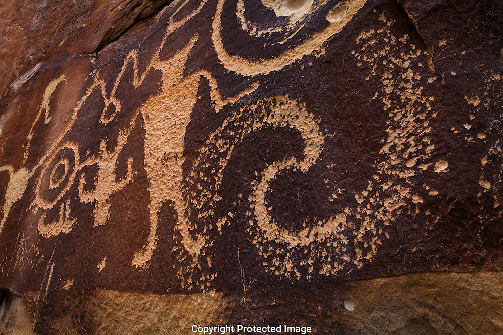 McKee Springs petroglyph, (super nova?), Dinosaur National Monument, UT