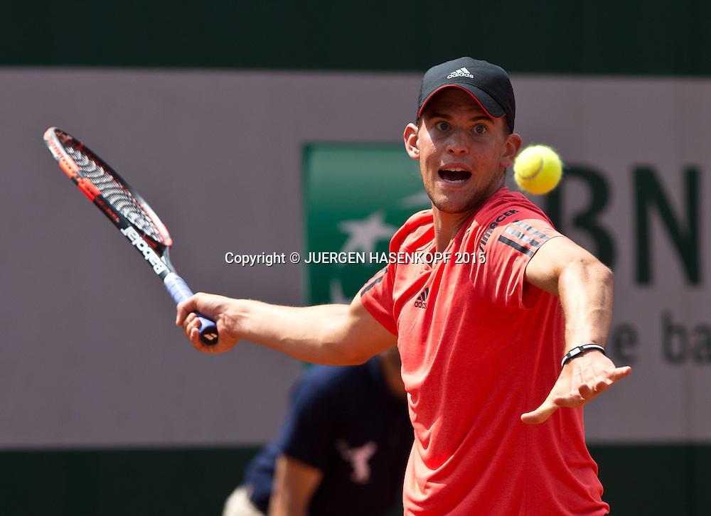Dominic Thiem (AUT)<br /> <br /> Tennis - French Open 2015 - Grand Slam ITF / ATP / WTA -  Roland Garros - Paris -  - France  - 27 May 2015.
