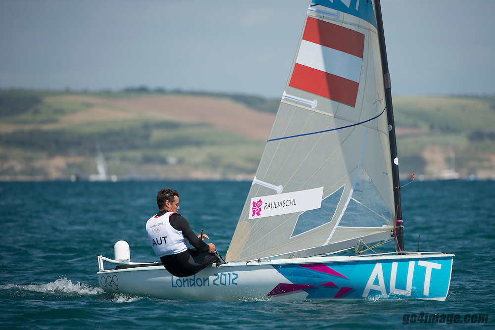 2012 Olympic Games London / Weymouth<br /> <br /> Finn practice race<br /> Finn AUTRaudaschl Florian