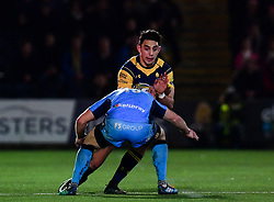Bryce Heem of Worcester Warriors goes into contact  - Mandatory by-line: Alex Davidson/JMP - 22/12/2017 - RUGBY - Sixways Stadium - Worcester, England - Worcester Warriors v London Irish - Aviva Premiership