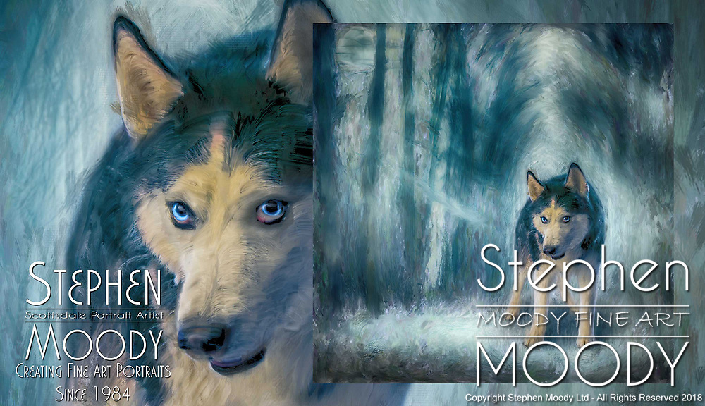 Fine Art Pet Portraits of Siberian Husky's  by Stephen Moody - Scottsdale Portrait Artist and Master Photographer, Scottsdale, AZ