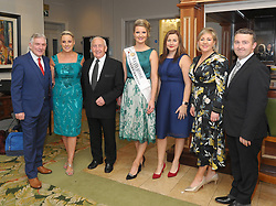 Henry McGlade, Caroline Leneghan-McManamon, Sean Boylan, Rebecca Gibbons, Angela McHugh, Catriona King and Kenneth Kelly at the Burrischoole does Broadway event on saturday night last. <br />