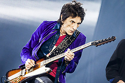 Ron Wood of The Rolling Stones live on stage at Gelredome in Arnhem, The Netherlands, as part of their No Filter Tour on October 17, 2017. Photo by Robin Utrecht/ABACAPRESS.COM