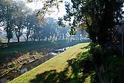 Petrinjcica, river passing through town of Petrinja, Croatia