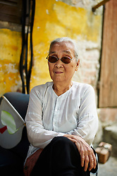 Portrait of an elderly Vietnamese woman, Hanoi, Vietnam, Southeast Asia