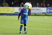 *** during the The FA Cup match between AFC Wimbledon and Lincoln City at the Cherry Red Records Stadium, Kingston, England on 4 November 2017. Photo by Matthew Redman.