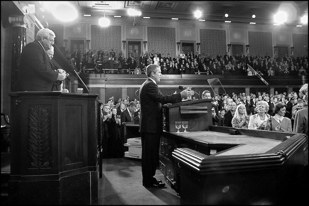 President Bush addresses a Joint Session of Congress. 9/19/01..&copy;PF<br /> BENTLEY/PFPIX.com