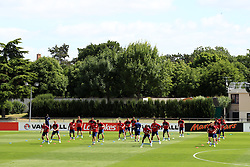 England players during the training session at Stade Omnisport.