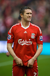 LIVERPOOL, ENGLAND - Saturday, November 22, 2008: Liverpool's Robbie Keane before the Premiership match against Fulham at Anfield. (Photo by David Rawcliffe/Propaganda)
