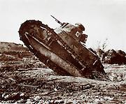 American tank in WWI, 1918