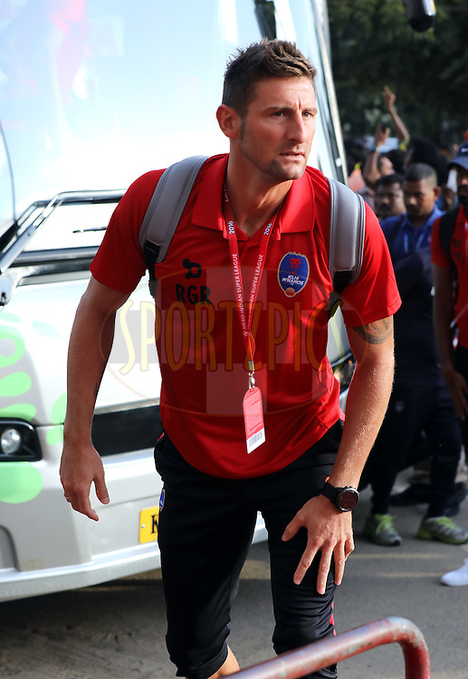 Ruben Gonzalez Rocha of Delhi Dynamos FC arrives for the match 9 of the Indian Super League (ISL) season 3 between Kerala Blasters FC and Delhi Dynamos FC held at the Jawaharlal Nehru Stadium in Kochi, India on the 9th October 2016.<br /> <br /> Photo by Sandeep Shetty / ISL/ SPORTZPICS