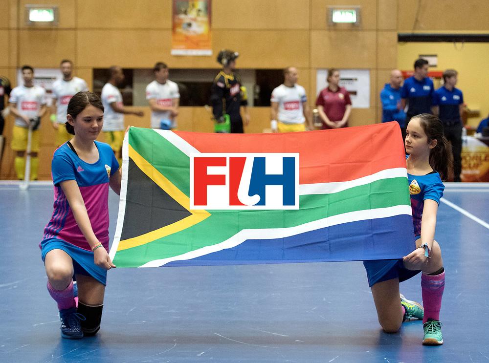 BERLIN - Indoor Hockey World Cup<br /> Switzerland - South Africa<br /> foto: Line Up<br /> WORLDSPORTPICS COPYRIGHT FRANK UIJLENBROEK
