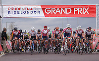 LONDON UK 29TH JULY 2016:  Youth A Boys. Prudential RideLondon Grand Prix at the London Velo Park. Prudential RideLondon in London 29th July 2016<br /> <br /> Photo: Jed Leicester/Silverhub for Prudential RideLondon<br /> <br /> Prudential RideLondon is the world's greatest festival of cycling, involving 95,000+ cyclists – from Olympic champions to a free family fun ride - riding in events over closed roads in London and Surrey over the weekend of 29th to 31st July 2016. <br /> <br /> See www.PrudentialRideLondon.co.uk for more.<br /> <br /> For further information: media@londonmarathonevents.co.uk
