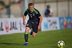 AUBAGNE, FRANCE - Tuesday, May 30, 2017: Wales' George Thomas in action during the Toulon Tournament Group B match between Wales and France at the Stade de Lattre-de-Tassigny. (Pic by Laura Malkin/Propaganda)