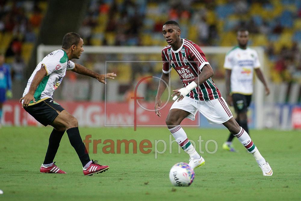 Gérson durante a partida Fluminense X Tigres válida pela 11 rodada do Campeonato Carioca 2015, no estádio do Maracanã, zona norte da cidade, neste sábado (21/03). Foto: Rudy Trindade/Frame