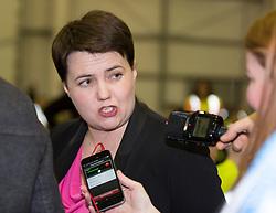 Scottish Parliament Election 2016 Royal Highland Centre Ingliston Edinburgh 05 May 2016; Ruth Davidson (Scottish Conservative leader) arrives during the Scottish Parliament Election 2016, Royal Highland Centre, Ingliston Edinburgh.<br /> <br /> (c) Chris McCluskie | Edinburgh Elite media
