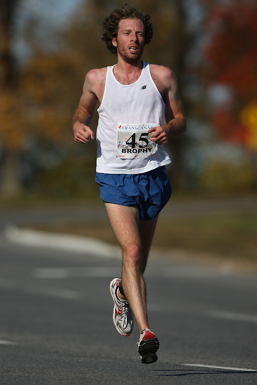 (Ottawa, ON---18 October 2008) MARK BROPHY competes in the 2008 TransCanada 10km Canadian Road Race Championships. Photograph copyright Sean Burges/Mundo Sport Images (www.msievents.com).