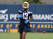 Jun 13, 2019; Costa Mesa, CA, USA:  Los Angeles Chargers receiver Keenan Allen (13) during minicamp at the Hoag Performance Center.