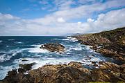 Achill island, the biggest of the small Irish islands. Atlantic Drive Western coast.