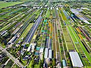 Nederland, Zuid-Holland, Alphen aan den Rijn, 14-09-2019; Boskoop. Op de veengrond kwekerijen van bomen, struiken, appelbomen.<br /> Boskoop. On the peat soil nurseries of trees, shrubs, apple trees.<br /> <br /> luchtfoto (toeslag op standard tarieven);<br /> aerial photo (additional fee required);<br /> copyright foto/photo Siebe Swart