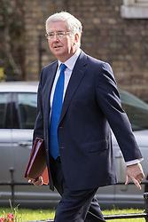 Downing Street, London, April 12th 2016. Defence Secretary Michael Fallon arrives at the weekly cabinet meeting. &copy;Paul Davey<br /> FOR LICENCING CONTACT: Paul Davey +44 (0) 7966 016 296 paul@pauldaveycreative.co.uk