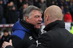 Everton manager Sam Allardyce (L) and Burnley manager Sean Dyche  - Mandatory by-line: Jack Phillips/JMP - 03/03/2018 - FOOTBALL - Turf Moor - Burnley, England - Burnley v Everton - English Premier League