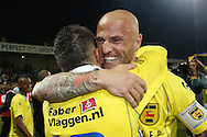 Onderwerp/Subject: Cambuur Leeuwarden - Jupiler League<br /> Reklame:  <br /> Club/Team/Country: <br /> Seizoen/Season: 2012/2013<br /> FOTO/PHOTO: Yuris ROSE ( Yuri ROSE ) (R) of Cambuur Leeuwarden celebrating with Adnane TIGHADOUINI (L) of Cambuur Leeuwarden. (Photo by PICS UNITED)<br /> <br /> Trefwoorden/Keywords: <br /> #02 $94 &plusmn;1367598354739 &plusmn;1367598354739<br /> Photo- &amp; Copyrights &copy; PICS UNITED <br /> P.O. Box 7164 - 5605 BE  EINDHOVEN (THE NETHERLANDS) <br /> Phone +31 (0)40 296 28 00 <br /> Fax +31 (0) 40 248 47 43 <br /> http://www.pics-united.com <br /> e-mail : sales@pics-united.com (If you would like to raise any issues regarding any aspects of products / service of PICS UNITED) or <br /> e-mail : sales@pics-united.com   <br /> <br /> ATTENTIE: <br /> Publicatie ook bij aanbieding door derden is slechts toegestaan na verkregen toestemming van Pics United. <br /> VOLLEDIGE NAAMSVERMELDING IS VERPLICHT! (&copy; PICS UNITED/Naam Fotograaf, zie veld 4 van de bestandsinfo 'credits') <br /> ATTENTION:  <br /> &copy; Pics United. Reproduction/publication of this photo by any parties is only permitted after authorisation is sought and obtained from  PICS UNITED- THE NETHERLANDS
