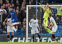 Football - 2017 / 2018 Premier League - Chelsea vs Crystal Palace<br /> <br /> Wayne Hennessey (Crystal Palace) collects the high ball at Stamford Bridge <br /> <br /> COLORSPORT/DANIEL BEARHAM