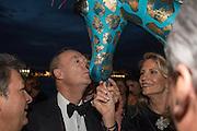Prince Amyn Aga Khan; GIANNI GIRAFFE,  Venetian Heritage Gala Dinner Dance.  Hotel  Cipriani,, Venice Biennale, Venice. 9 May 2015