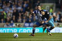 Fernando Forestieri of Sheffield Wednesday is fouled by Beram Kayal of Brighton & Hove Albion - Mandatory by-line: Jason Brown/JMP - 16/05/2016 - FOOTBALL - Amex Stadium - Brighton, England - Brighton and Hove Albion v Sheffield Wednesday - Sky Bet Championship Play-off Semi-final second leg
