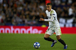 November 7, 2018 - Valencia, Spain - Rodrigo Moreno of Valencia during the Group H match of the UEFA Champions League between Valencia and Young Boys at Mestalla Stadium, Valencia on November 07 of 2018. (Credit Image: © Jose Breton/NurPhoto via ZUMA Press)